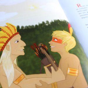 Miolo do Livro 'Raio de Sol e a Maldição do Dragão' de Marco Aurélio Fernandes