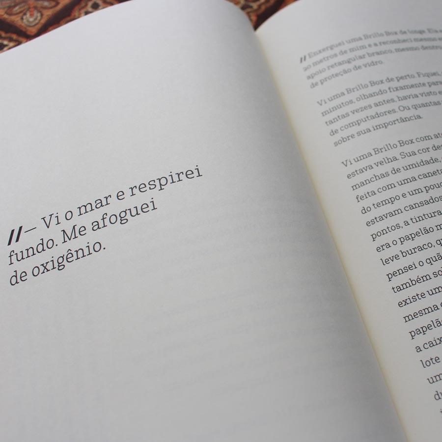 Miolo do livro 'Terras Melancólicas ou Depressão Tropical' do autor Rodolfo Borbel Pitarello